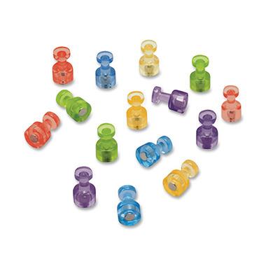 Quartet Assorted Colours Magnetic Push Pins