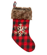 Harman Sequin Stocking Buffalo Check
