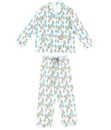 Nest Designs Women's Bamboo Pima Long Sleeve PJ Set Where's The Bear