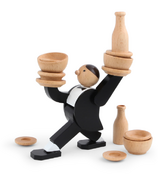 Kikkerland Stacking Game Don't Tip the Waiter