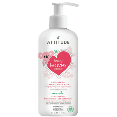 ATTITUDE Baby Leaves 2-in-1 Shampoo & Body Wash Orange Pomegranate