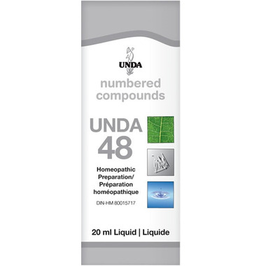UNDA Numbered Compounds UNDA 48 Homeopathic Preparation