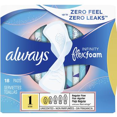 Always Infinity FlexFoam Pads With Wings
