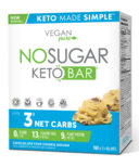 Vegan Pure No Sugar Keto Bar Chocolate Chip Cookie Dough