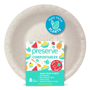 Preserve Compostables Bowls Natural