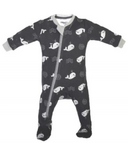 ZippyJamz Footed Organic Cotton Sleeper Bub Bub Beluga