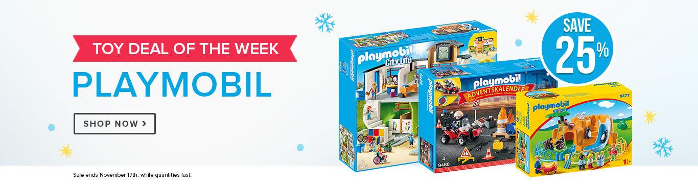 Save 25% on Playmobil