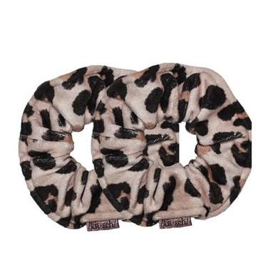 Kitsch Microfiber Printed Towel Scrunchies Leopard
