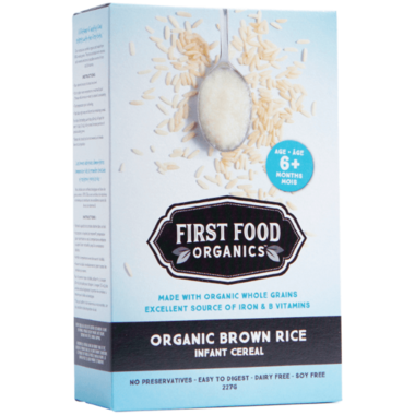 First Food Organics Organic Brown Rice Infant Cereal