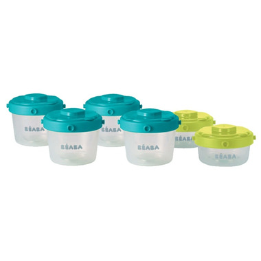 Beaba Clip Containers Peacock
