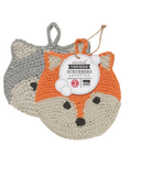 Now Designs Freddy Fox Animal Tawashi Scrubbers Set