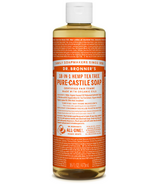 Dr. Bronner's Organic Pure Castile Liquid Soap Tea Tree 16 Oz