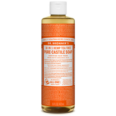 Dr. Bronner\'s Organic Pure Castile Liquid Soap Tea Tree 16 Oz