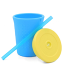 Silikids Silicone Straw Cup Sky Blue