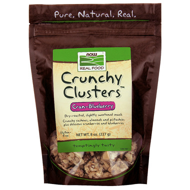 NOW Real Food Crunchy Clusters Cran-Blueberry