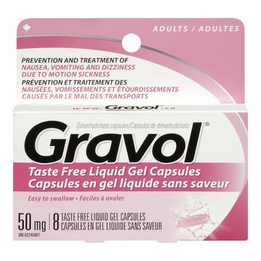 Gravol Taste Free Liquid Gel Capsules