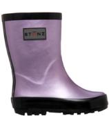 Stonz Rain Boots Metallic Haze Pink