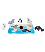 Hape Toys Polar Animal Tactile Puzzle