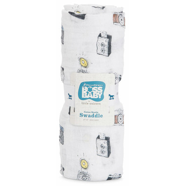 Little Unicorn Cotton Muslin Swaddle Camera