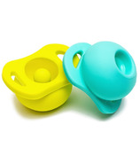 Doddle & Co. The Pop Pacifier Twin Pack In Teal Life & Pick Up Lime