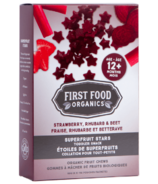 Étoiles super fruits fraises, rhubarbe, betterave de First Food Organics