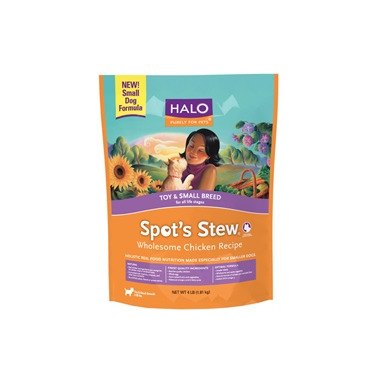 Halo Toy & Small Breed Dog Spot\'s Stew Wholesome Chicken Recipe