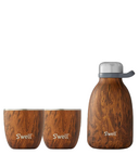 S'well Teakwood Steel Roamer and Tumbler Bundle