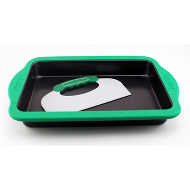 BergHOFF Perfect Slice 9x13 Inches Cake Pan with Silicone Sleeve and Tool