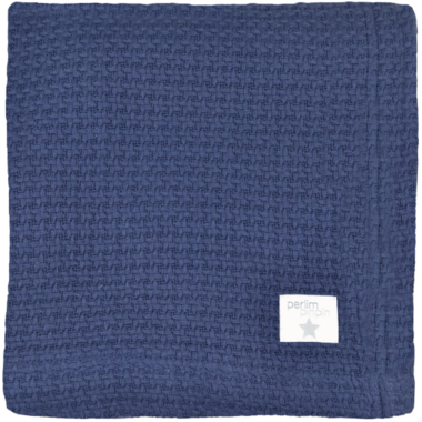 Perlimpinpin Knitted Bamboo Blanket Navy