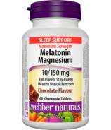 Webber Naturals Melatonin Magnesium 10/150 mg
