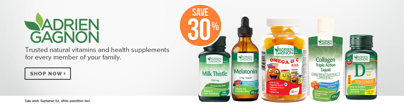 Save 30% on Adrien Gagnon Vitamins