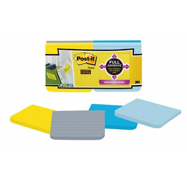 Post-it Super Sticky Full Adhesive Notes Assorted Colours