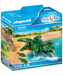 Playmobil Family Fun Alligator with Babies