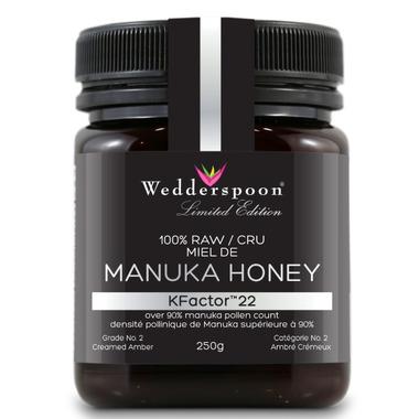 Wedderspoon 100% Raw Premium Manuka Honey 90 KFactor 22