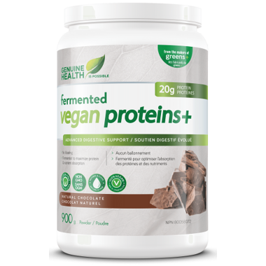 Genuine Health Fermented Vegan Proteins+ Natural Chocolate Large Pack
