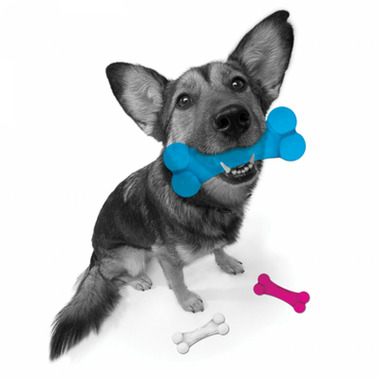 Petprojekt Small Dogbon Dog Toy in Clear