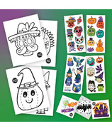 PiCO Halloween Surprise Kit with Colouring Pages & Temporary Tattoos