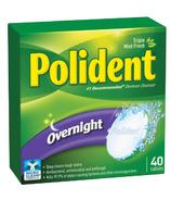Polident Nettoyant pour Prothèses Dentaires pour la Nuit