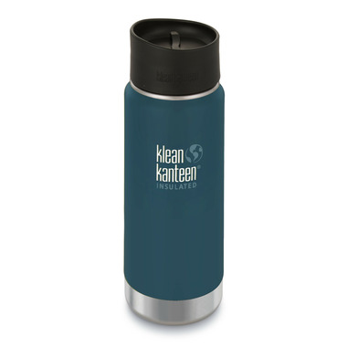 Klean Kanteen Stainless Steel Bottle with Cafe Cap Neptune Blue Matte