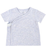 Nest Designs Basics Bamboo Cotton Kimono Short Sleeve T-Shirt Grey Dawn