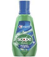 Crest Scope Outlast Anticavity Fluroide Mouthwash Long Lasting Mint