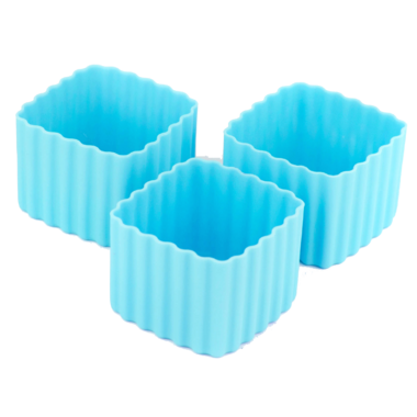 Little Lunch Box Co. Bento Cups Square Light Blue