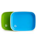 Munchkin Splash Collection Flat Plates Blue & Green