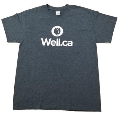 Well.ca Women\'s Ultra Cotton T-Shirt Dark Heather Grey