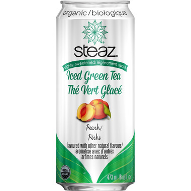 Steaz Organic Lightly Sweetened Iced Green Tea Peach