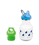 Klean Kanteen Sharks Kid Classic Sippy + Loop Cap Bundle