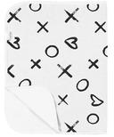 Kushies Flat Changing Pad Flannel XO Black & White