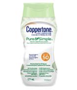 Coppertone Mineral Sunscreen Lotion Pure & Simple SPF 50