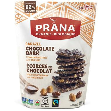 PRANA Carazel Chocolate Bark Caramelized Nuts & Sea Salt