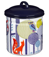 Folklore Enamel Storage Pot